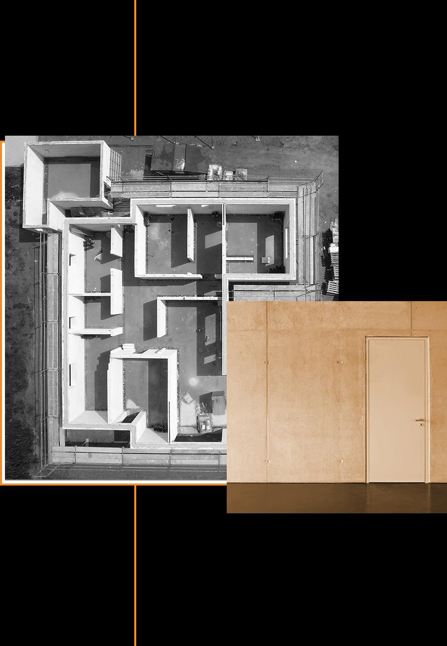 Garrouste - maison vue de dessus et fondations